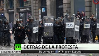 ¿Quién está detrás de los disturbios en Cataluña?