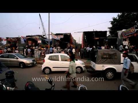 Exclusive market for Firecaker - INA Firecrackers market, South Delhi