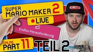 🔴 SUPER MARIO MAKER 2 ONLINE 👷 #11: Endlos-Herausforderung (Mario) | Schwer - Teil 2