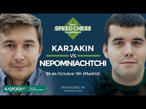 Sergey Karjakin vs Ian Nepomniachtchi   Torneo de ajedrez Speed Chess 2017