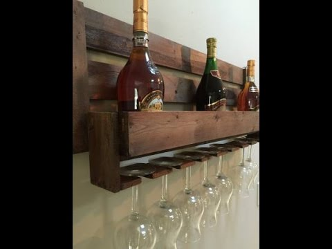 Reclaimed Pallet Diy Wine Rack Youtube