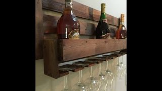 Diy  Wine Rack From Pallet