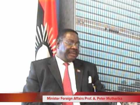 Minister Foreign Affairs Arthur Peter  Mutharika Part 3
