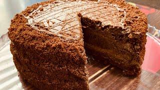 Икки дона тухумдан супер торт Рецепт Пражского торта в домашних условиях Торт без миксера