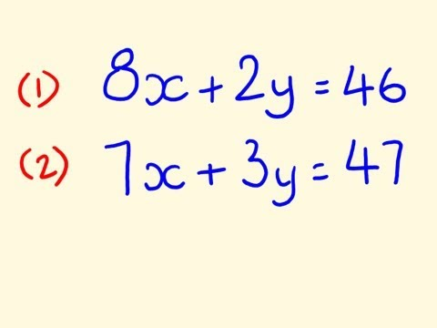Simultaneous Equations - Example To Solve 3