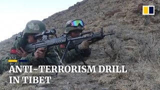 Chinese police conduct anti-terrorism drill in Tibet