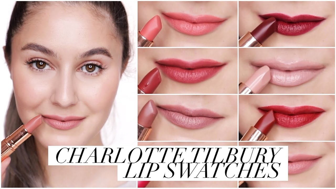 charlotte tilbury lipstick collection swatches karima