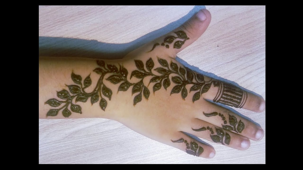 Cute leafy mehndi henna design for kids tutorial video learn how cute leafy mehndi henna design for kids tutorial video learn how to make part 1 baditri Images