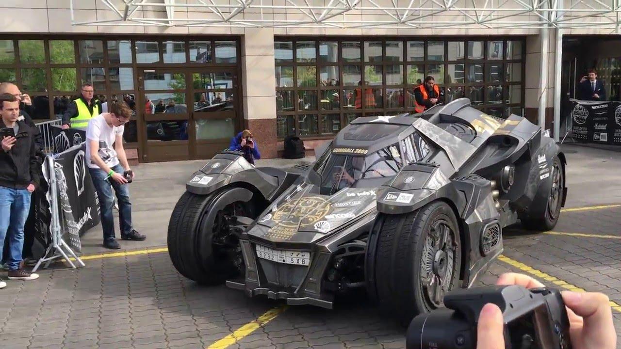 Batmobile In Prague Gumball 2016 Lamborghini Ferrari Audi Youtube
