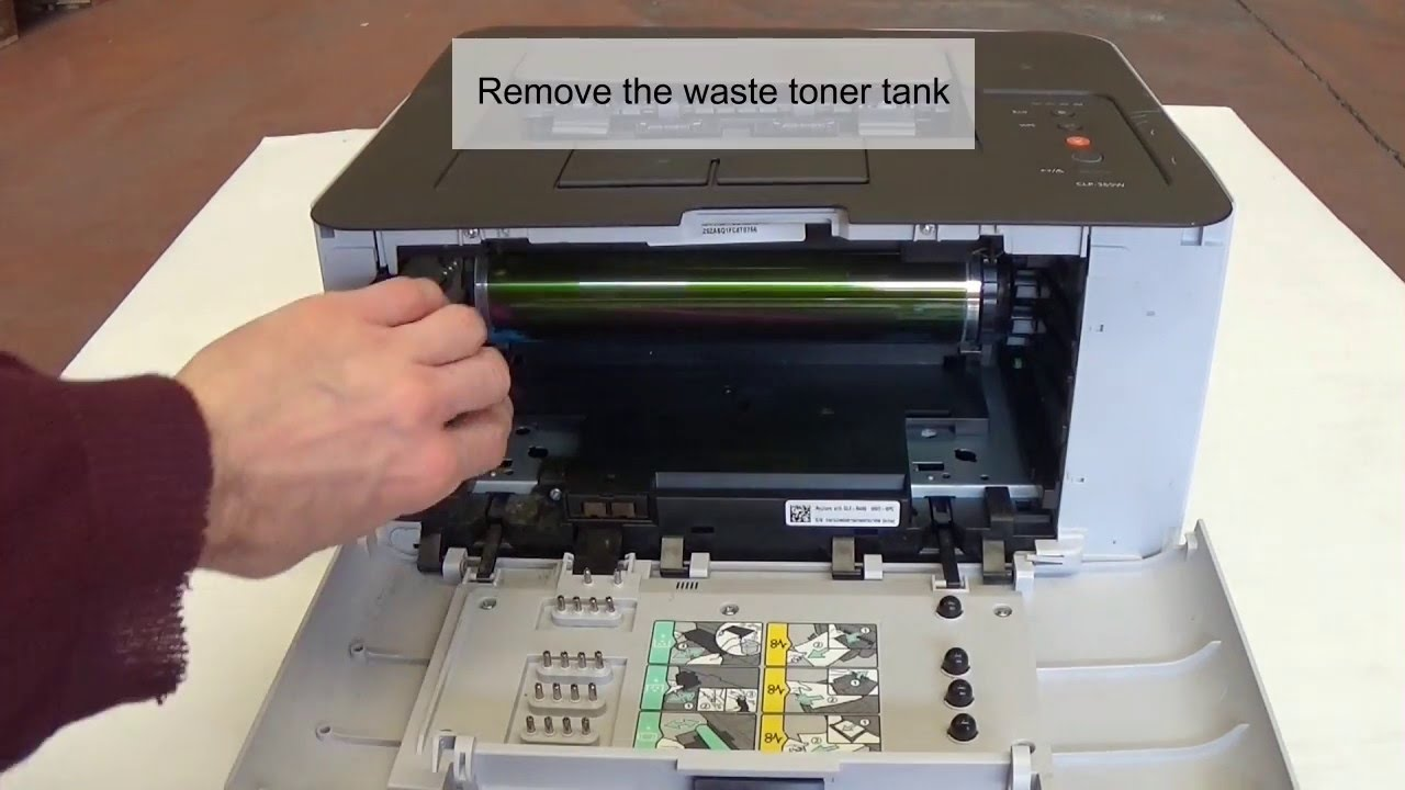 How To Remove And Clean Samsung Transfer Belt Clp 365