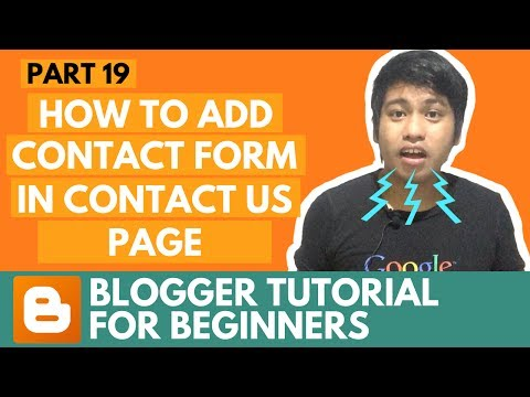 Blogger Tutorial for Beginners - How to Add Contact Form in Contact Us Page - Part 19