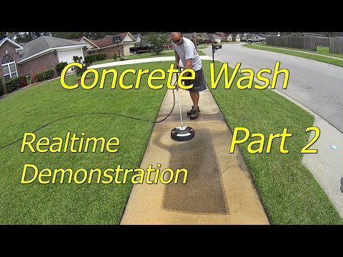 Part 2 How To Pressure Wash Concrete Sidewalks and Driveways Chemical Free