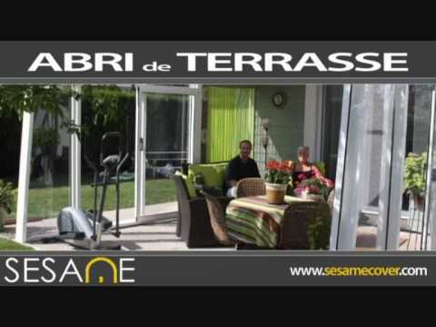 abri de terrasse s same pergola et v randa telescopique youtube. Black Bedroom Furniture Sets. Home Design Ideas