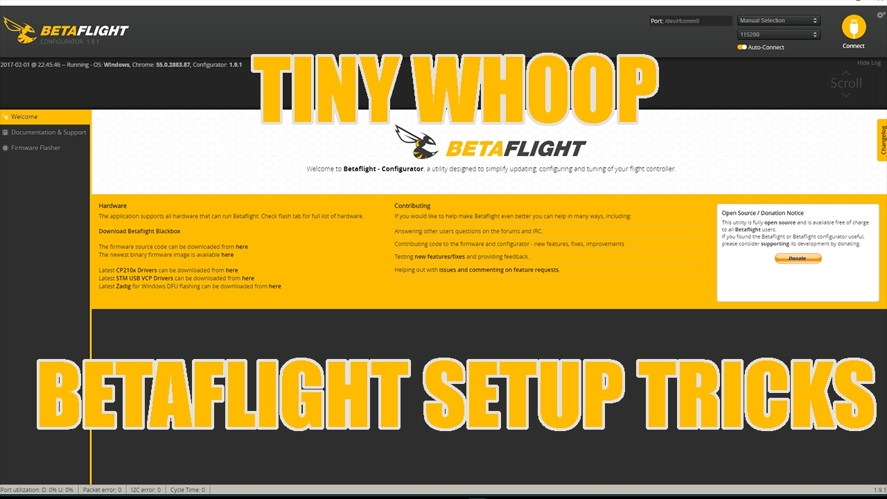 Tiny Whoop Betaflight Setup Tricks
