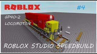 ROBLOX STUDIO - GP40-2 Locomotive [SpeedBuild] #4