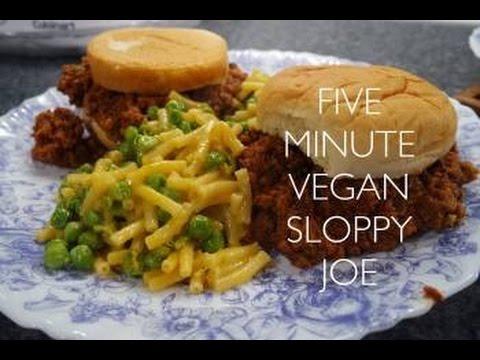 Five minute Vegan sloppy joes!