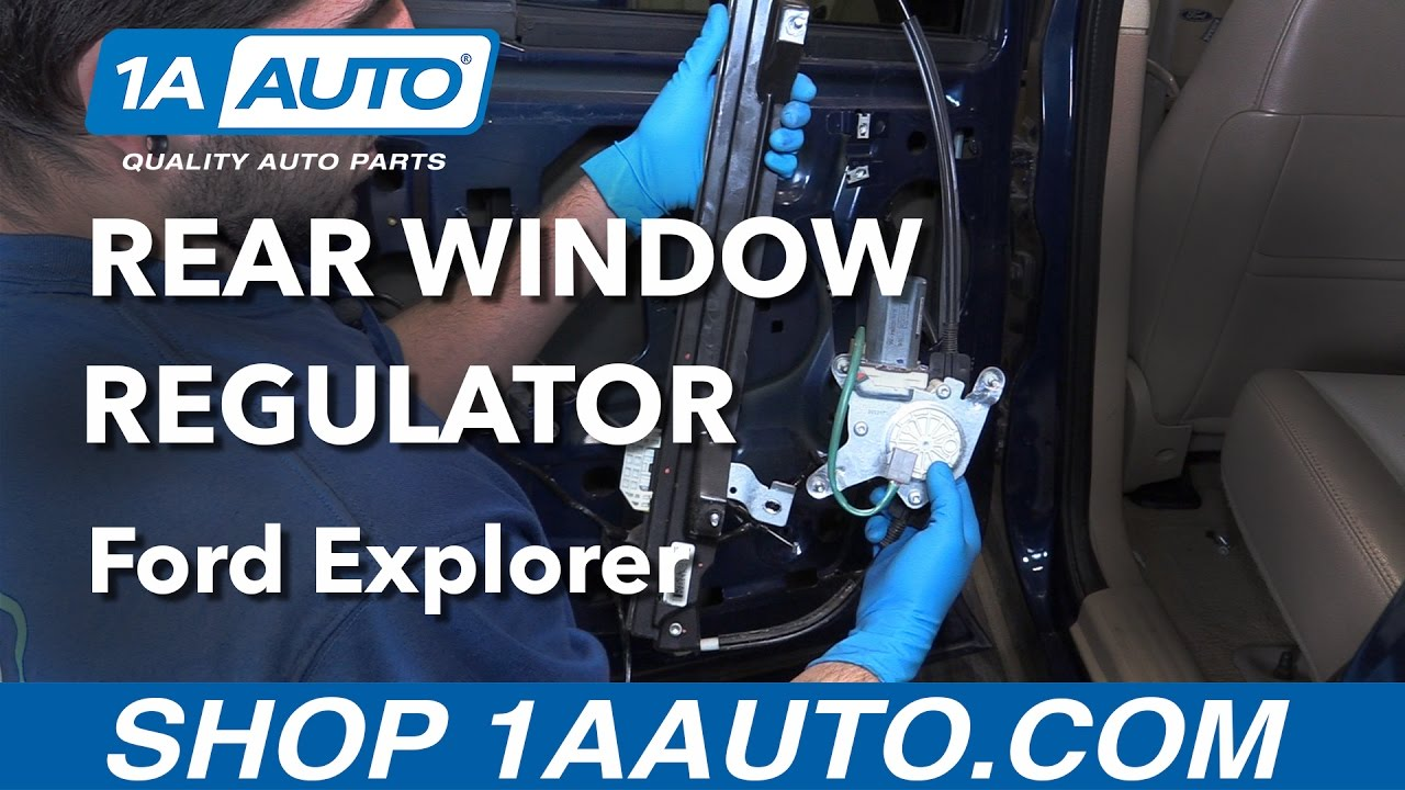 How to replace install rear window regulator 2006 ford explorer buy quality auto parts at 1aauto com