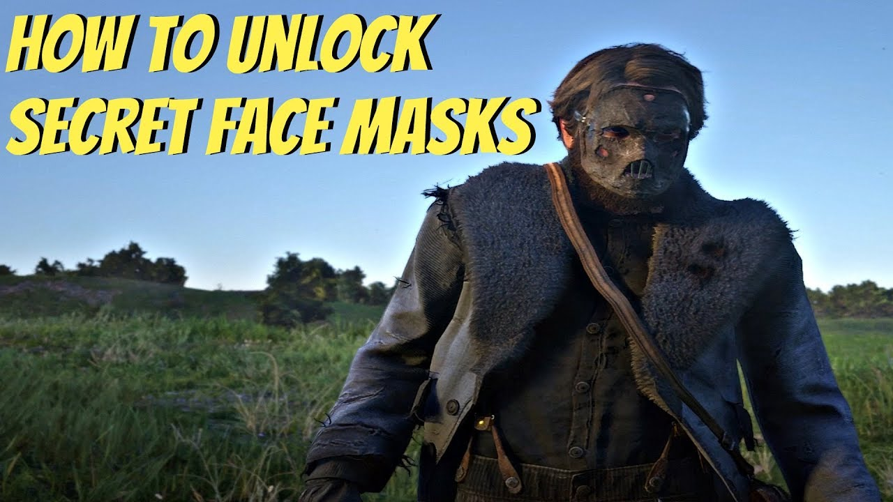 Red Dead Redemption 2 How To Unlock Secret Face Masks Rdr2 Ps4