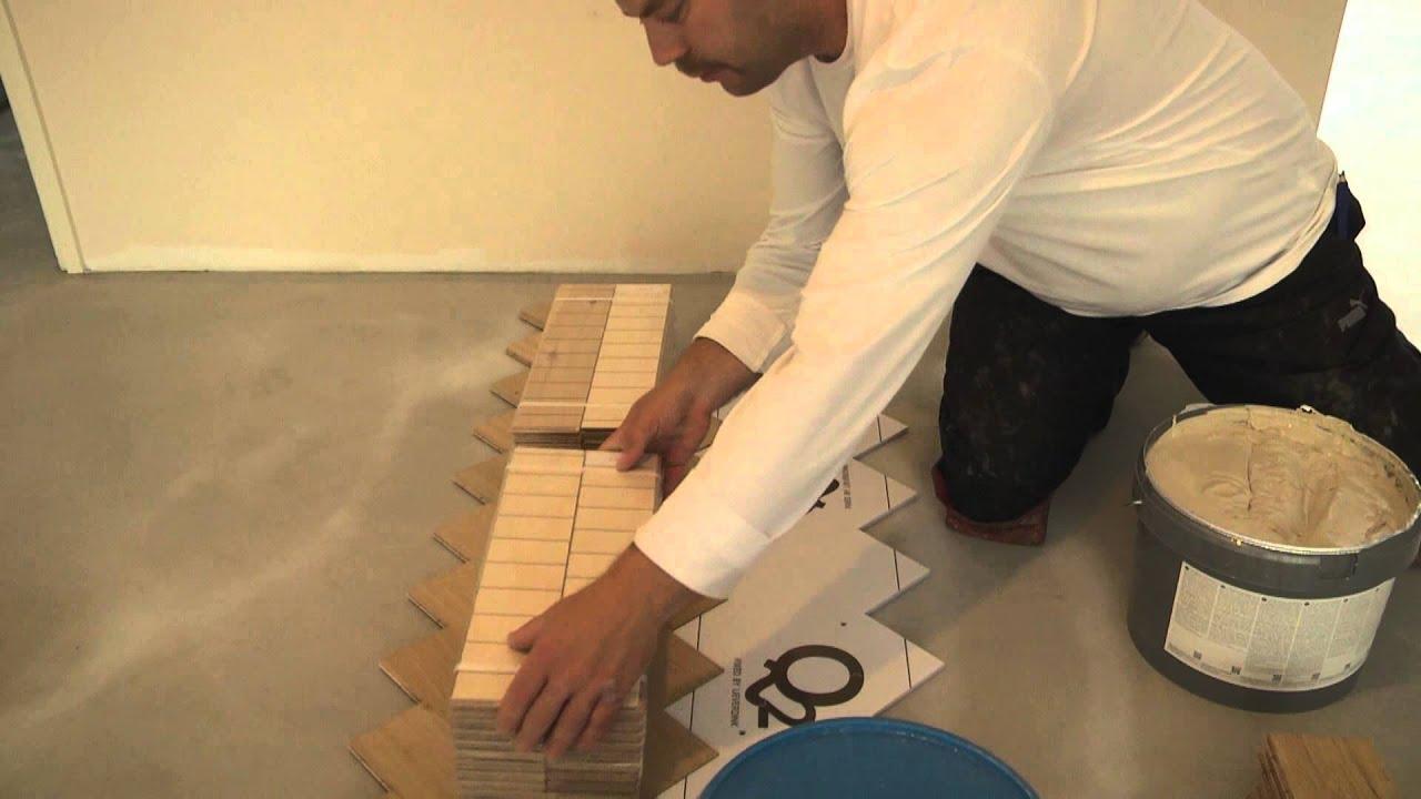 het leggen van q2 tweelaags visgraatvloer youtube