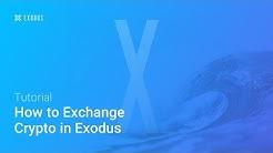 How to Exchange Crypto Using Exodus Wallet