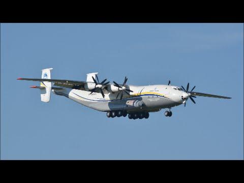 (with live ATC) INCREDIBLE SPECIAL IN ZRH!!! Antonov Airlines Antonov 22 landing runway 14
