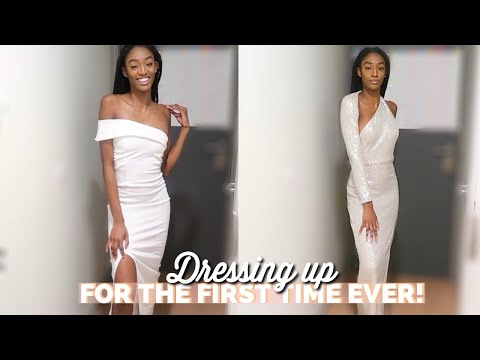CLASSY EVENING DRESSES TRY ON HAUL | CLUB L LONDON AND PRETTY LITTLE THING
