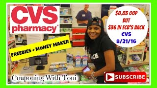 cvs 8 21 16 in store couponing   8 83 oop but 36 in ecb s back