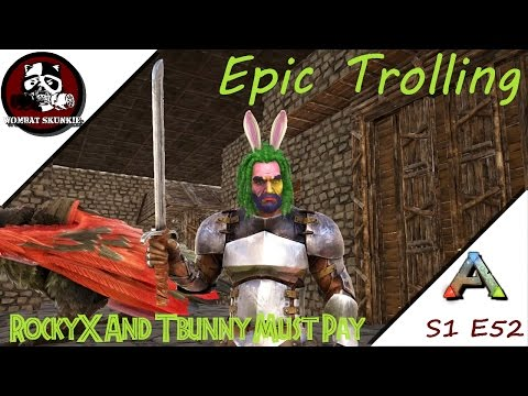 ARK: Epically Trolling RockyX And TBunny