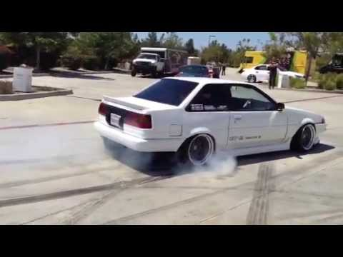 Toyota Corolla Modified >> Toyota Corolla AE86 coupe burnout - YouTube