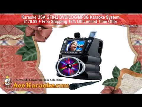 Karaoke USA GF842 DVD CDG MP3G Karaoke System 18% Off