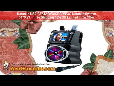 Karaoke USA GF842 DVD CDG MP3G Karaoke System 18% Off