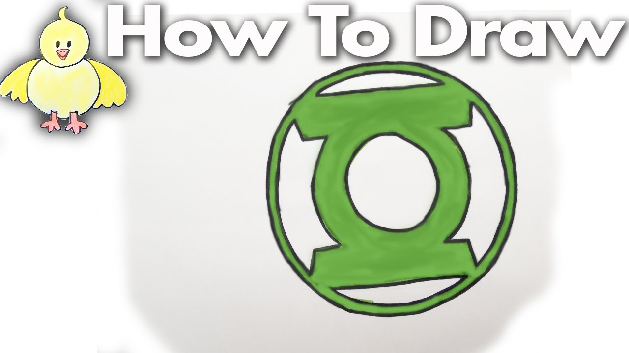 How To Draw The Green Lantern Logo Step By Step Youtube