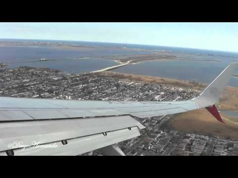 Amazing landing at John F. Kennedy International airport Aeromexico Boeing Split scimitar winglet