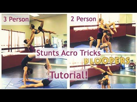Best 3 Person 2 Person Stunts Acro Tricks Tutorial!!!!!!