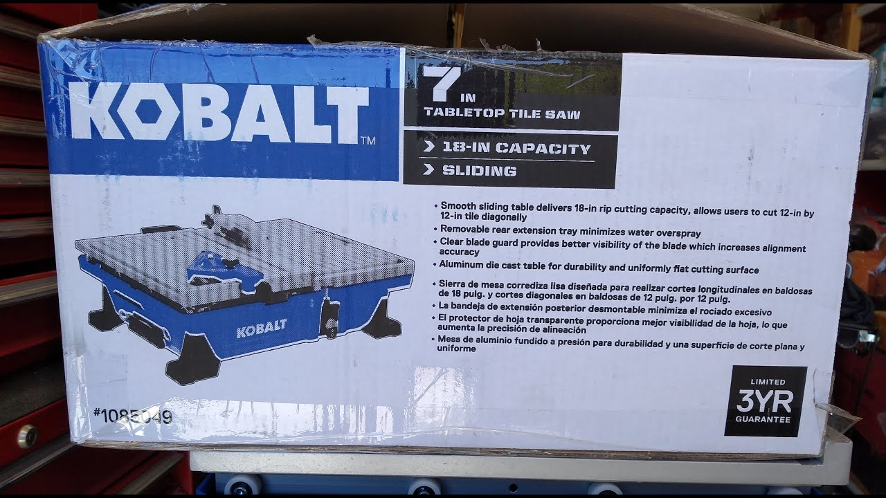 kobalt 7in wet saw evaluation first use