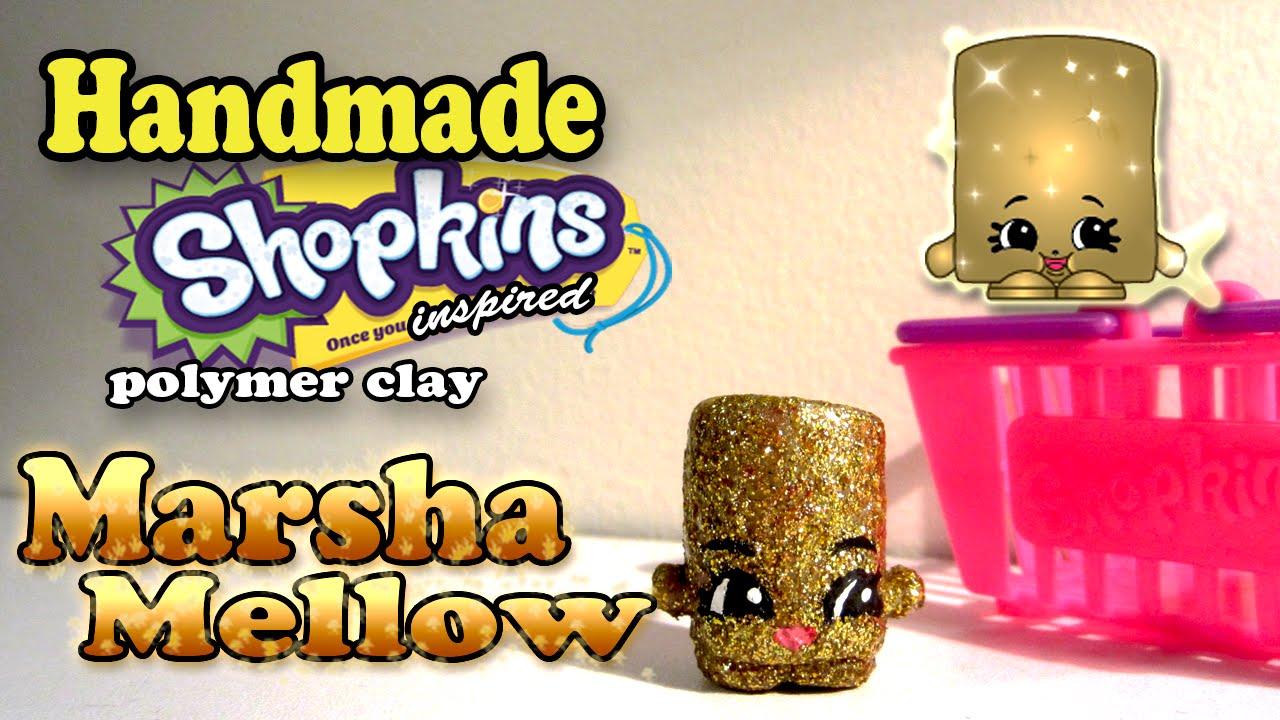 Season 2 Shopkins: How To Make Marsha Mellow Polymer Clay Tutorial!
