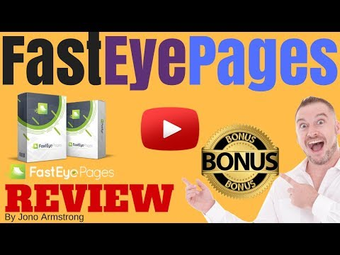 FastEye Pages Review ⚠️WARNING⚠️ DON'T BUY FASTEYE PAGES WITHOUT MY 👷CUSTOM👷 BONUSES!!