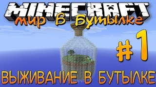 Выживание в бутылке #1 - СЕКРЕТНАЯ КОМНАТА - Minecraft Survival Map