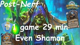 Hearthstone: Even Shaman Post-Nerf #2: Witchwood (Bosque das Bruxas) - Standard Constructed