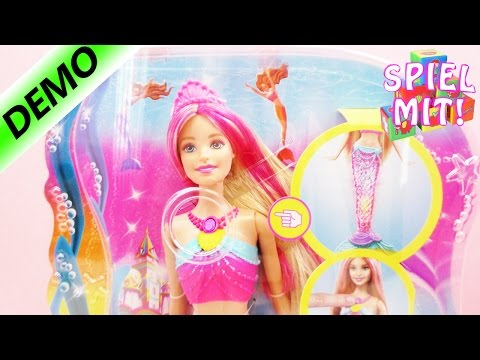 Barbie Regenbogenlicht Meerjungfrau   buntes Farbenspiel unter Wasser   Demo