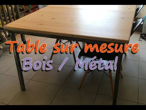 Table sur mesure, mariage du Métal et du Bois, style industriel #DIY #metal #bois