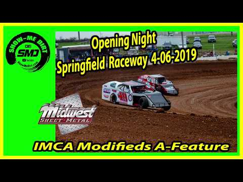 S03 E175 IMCA Modifieds A-Feature - Opening Night Springfield Raceway 4-06-2019 #DirtTrackRacing