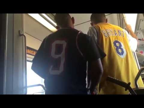 Fight on Metro Blue line near Slauson station in Los Angeles