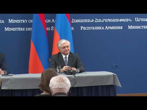 Press conference of the Foreign Ministers of Armenia and Estonia