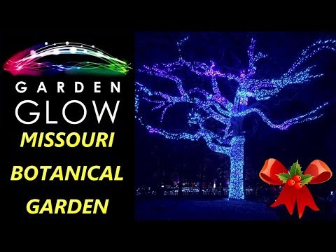 Garden Glow - Missouri Botanical Garden Christmas Holiday Event St Louis 2017 - Light Display In STL