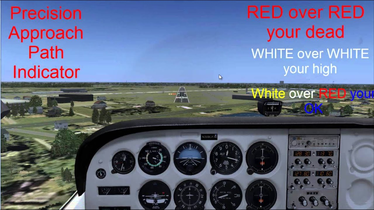 how to make visual approach pmdg