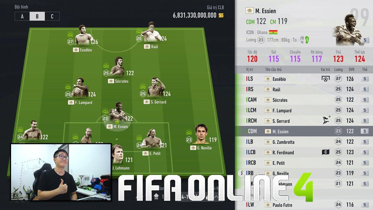"""FIFA ONLINE 4: TEST HÀNG FULL ICON +5 KHỦNG NHẤT SERVER & BUILD & TEST VÀI TEAM """" NGON - BỔ - RẺ """""""
