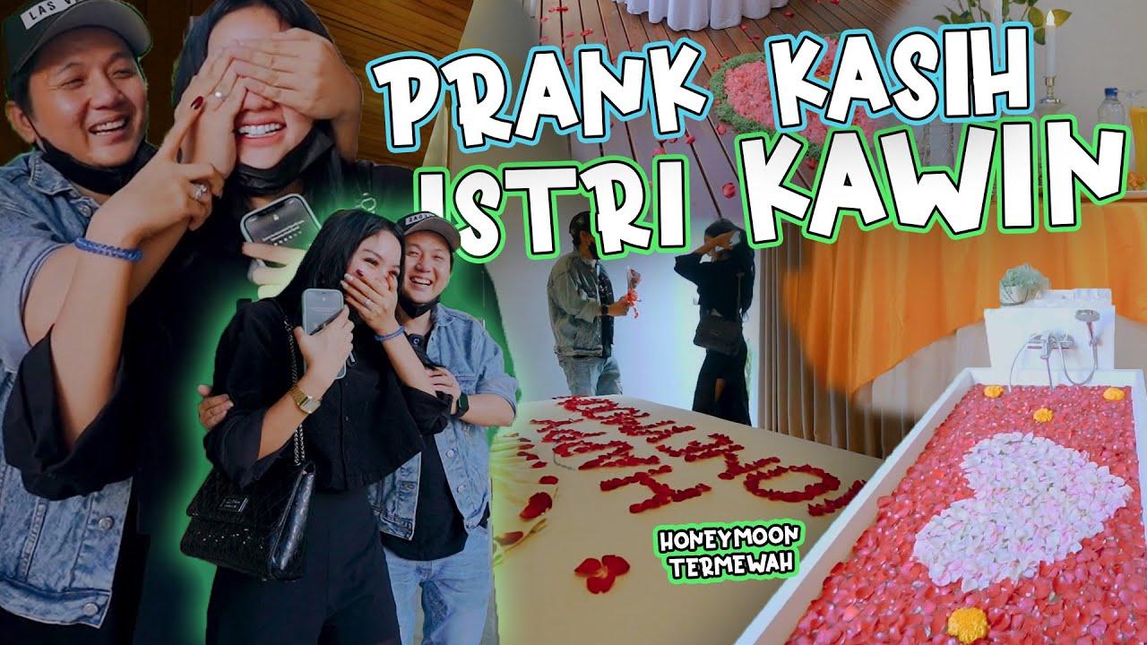 PRANK SUPRISE ROMANTIS KASIH ISTRI KAWIN HONEYMOON TERBAGONG !!!