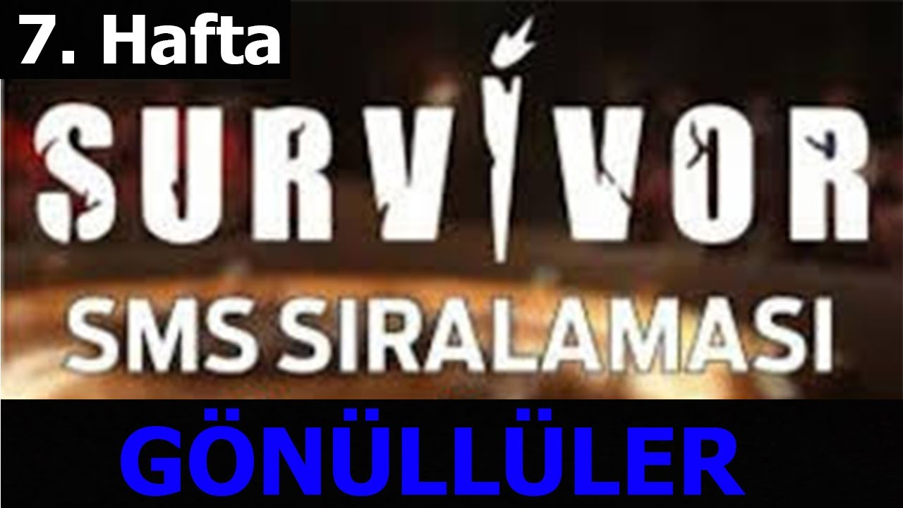 Survivor 2021 | 7. Hafta Gönüllüler SMS sıralaması - YouTube