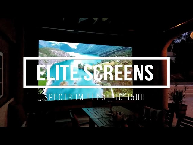 "Elite Screens Spectrum Series 150"" Electric Motorized Projection Screen 